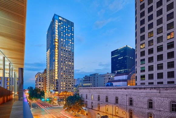 Aloft   Element Austin Downtown  Exterior High  1